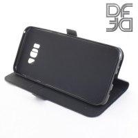 DF флип чехол книжка для Samsung Galaxy S8 Plus - Черный