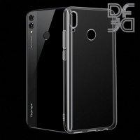 DF Ультратонкий прозрачный силиконовый чехол для Huawei Honor 8C