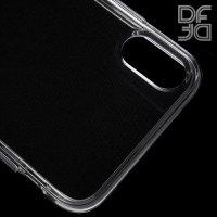 DF Ультратонкий прозрачный силиконовый чехол для iPhone Xs Max