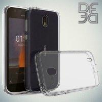 DF Ультратонкий прозрачный силиконовый чехол для Nokia 1
