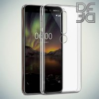 DF Ультратонкий прозрачный силиконовый чехол для Nokia 5.1 2018