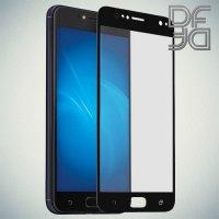 DF Закаленное защитное стекло на весь экран для Asus Zenfone 4 Live ZB553KL - Черный