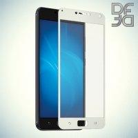 DF Закаленное защитное стекло на весь экран для Asus Zenfone 4 Max ZC520KL - Белый