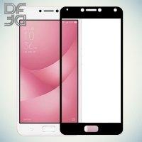 DF Закаленное защитное стекло на весь экран для ASUS ZenFone 4 Max ZC554KL - Черный