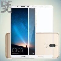 DF Закаленное защитное стекло на весь экран для Huawei Nova 2i - Белый