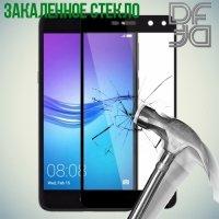 DF Закаленное защитное стекло на весь экран для Huawei Y5 2017 - Черный