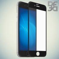 DF Закаленное защитное стекло на весь экран для iPhone 8/7 - Черный