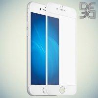DF Закаленное защитное стекло на весь экран для iPhone 8 Plus / 7 Plus - Белый