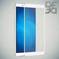 DF Закаленное защитное стекло на весь экран для Meizu M6s - Белый