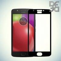 DF Закаленное защитное стекло на весь экран для Moto G5 - Черный