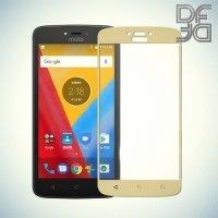 DF Закаленное защитное стекло на весь экран для Motorola Moto C - Золотой
