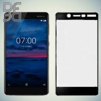DF Закаленное защитное стекло на весь экран для Nokia 7 - Черный