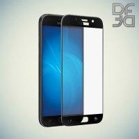 DF Закаленное защитное стекло на весь экран для Samsung Galaxy A5 2017 SM-A520F - Черный