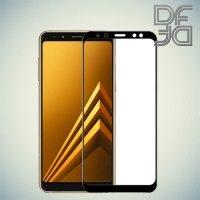 DF Закаленное защитное стекло на весь экран для Samsung Galaxy A8 Plus 2018 - Черный
