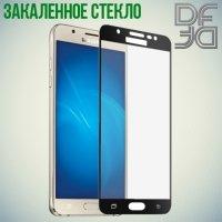 DF Закаленное защитное стекло на весь экран для Samsung Galaxy J5 2017 SM-J530F - Черный