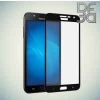 DF Закаленное защитное стекло на весь экран для Samsung Galaxy J7 Neo - Черный