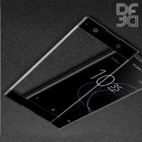 DF Закаленное защитное стекло на весь экран для Sony Xperia XA1 - Черный