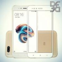 DF Закаленное защитное стекло на весь экран для Xiaomi Mi 5x / Mi A1 - Белый