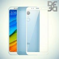 DF Закаленное защитное стекло на весь экран для Xiaomi Redmi 5 Plus - Белый