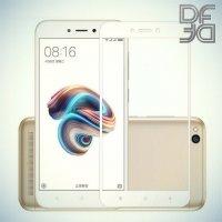DF Закаленное защитное стекло на весь экран для Xiaomi Redmi 5a - Белый
