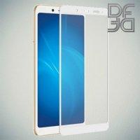 DF Закаленное защитное стекло на весь экран для Xiaomi Redmi Note 5 / 5 Pro - Белый