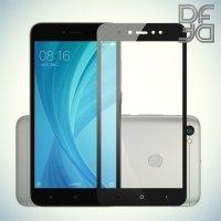 DF Закаленное защитное стекло на весь экран для Xiaomi Redmi Note 5A 3/32GB - Черный