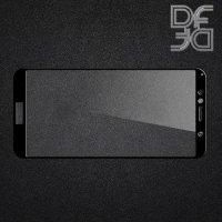 DF Защитное стекло для Huawei Honor 7A Pro / 7C / Huawei Y6 Prime 2018 черное