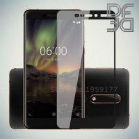 DF Защитное стекло для Nokia 6.1 2018 черное