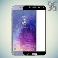 DF Защитное стекло для Samsung Galaxy J4 2018 SM-J400F черное
