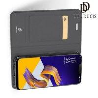 Dux Ducis чехол книжка для Asus Zenfone Max Pro M2 ZB631KL с магнитом и отделением для карты - Серый