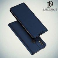 Dux Ducis чехол книжка для Huawei Honor 8X с магнитом и отделением для карты - Синий