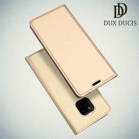 Dux Ducis чехол книжка для Huawei Mate 20 Pro с магнитом и отделением для карты - Золотой