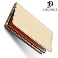 Dux Ducis чехол книжка для Huawei Mate 20 с магнитом и отделением для карты - Золотой