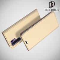 Dux Ducis чехол книжка для Huawei P30 Pro с магнитом и отделением для карты - Золотой