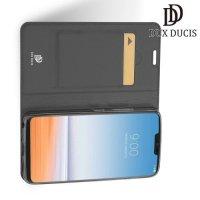Dux Ducis чехол книжка для LG G7 ThinQ с магнитом и отделением для карты - Серый