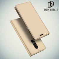 Dux Ducis чехол книжка для OnePlus 6 с магнитом и отделением для карты - Золотой