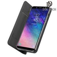 Dux Ducis чехол книжка для Samsung Galaxy A6 Plus 2018 с магнитом и отделением для карты - Серый
