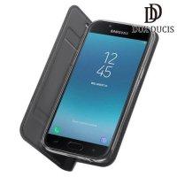 Dux Ducis чехол книжка для Samsung Galaxy J4 2018 SM-J400F с магнитом и отделением для карты - Серый