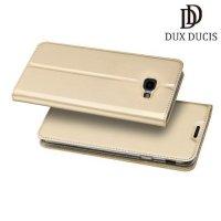 Dux Ducis чехол книжка для Samsung Galaxy J4 Plus с магнитом и отделением для карты - Золотой