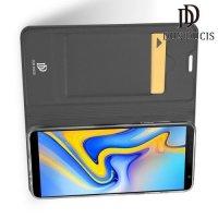 Dux Ducis чехол книжка для Samsung Galaxy J6 Plus с магнитом и отделением для карты - Черный
