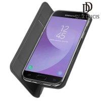 Dux Ducis чехол книжка для Samsung Galaxy J7 2018 с магнитом и отделением для карты - Серый