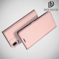 Dux Ducis чехол книжка для Sony Xperia L3 с магнитом и отделением для карты - Розовое Золото