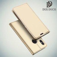 Dux Ducis чехол книжка для Xiaomi Mi 6x / Mi A2 с магнитом и отделением для карты - Золотой
