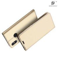 Dux Ducis чехол книжка для Xiaomi Mi Max 3 с магнитом и отделением для карты - Золотой