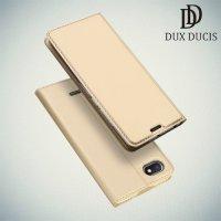 Dux Ducis чехол книжка для Xiaomi Redmi 6a с магнитом и отделением для карты - Золотой