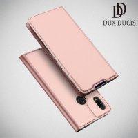 Dux Ducis чехол книжка для Xiaomi Redmi 7 с магнитом и отделением для карты - Розовое Золото
