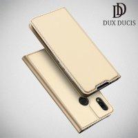 Dux Ducis чехол книжка для Xiaomi Redmi 7 с магнитом и отделением для карты - Золотой
