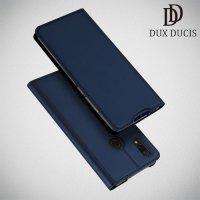 Dux Ducis чехол книжка для Xiaomi Redmi 7 с магнитом и отделением для карты - Синий