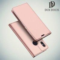 Dux Ducis чехол книжка для Xiaomi Redmi Note 5 / 5 Pro с магнитом и отделением для карты - Розовое Золото