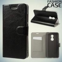 Fashion Case чехол книжка флип кейс для Xiaomi Redmi Note 4X - Черный